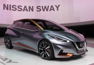 The Sway is Nissan's nod to the look of the next Micra. Because of the radical new styling, the Micra name may be dropped.