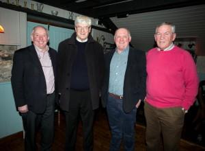 Seamus Durack, Fr Harry Bohan, Pat O'Connor and Colm Flynn at the reunion. Photograph by Arthur Ellis