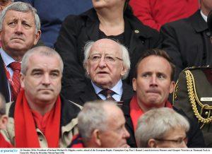 President Michael D Higgins at Saturday's big game. Photograph by Brendan Moran/Sportsfile