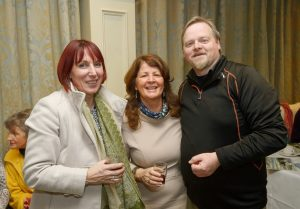 Carol Buckley, Mairead Mannion and Martin Waldron at the announcement of the winners of the annual Clare Champion Christmas Shop Window Display competition. Photograph by John Kelly.
