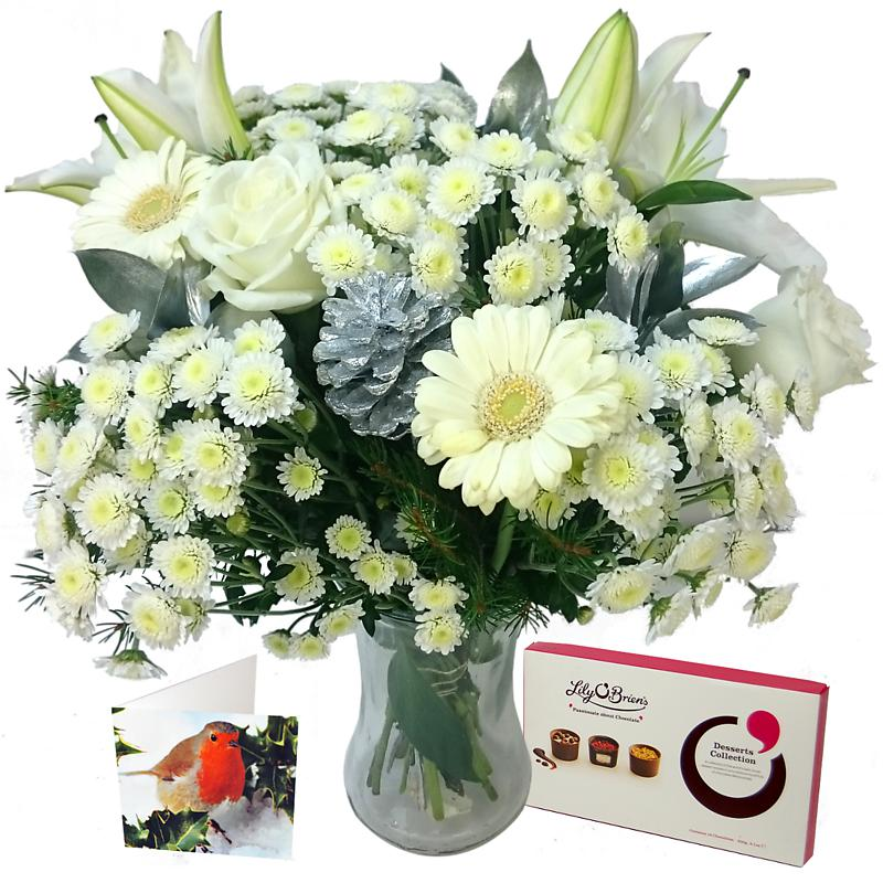 Snow White Christmas Gift Set Fresh Flowers Free Delivery