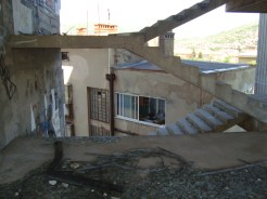 Apartment block adjacent to sniper's nest, Mostar