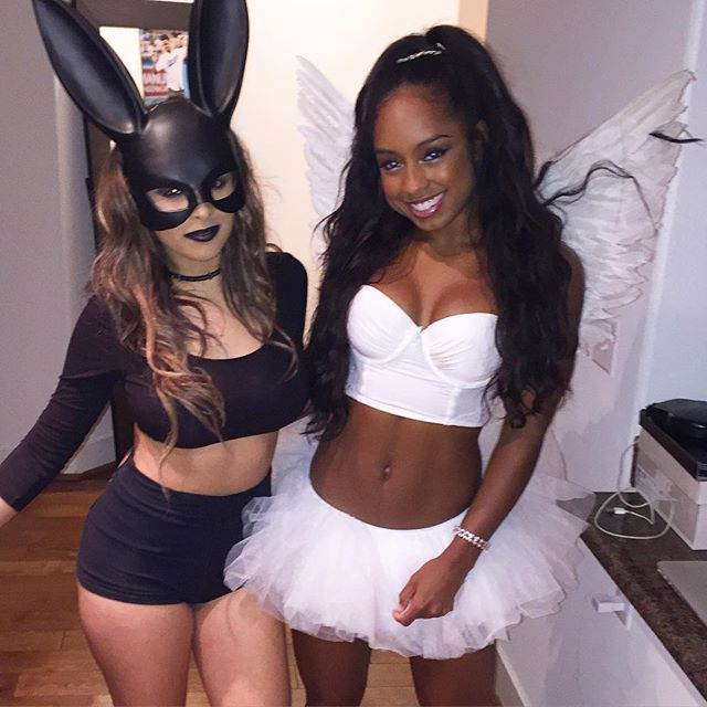 Hot Bunny and White Ballerina Halloween Costumes
