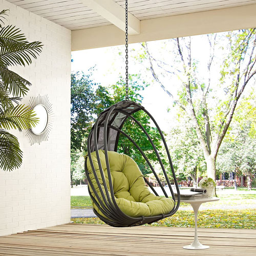 Outdoor Patio Balcony Porch Lounge Swing Chair Set