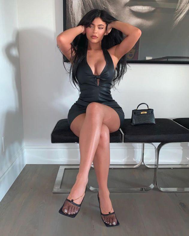 Kylie Jenner Black Tight Dress