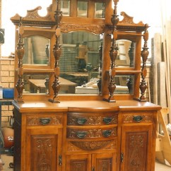 Kitchen Buffet Cabinet For Appliances Superb Carved Edwardian Sideboard 7 | Clarelle Furniture ...