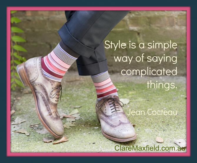 Style is a simple way of saying complicated things