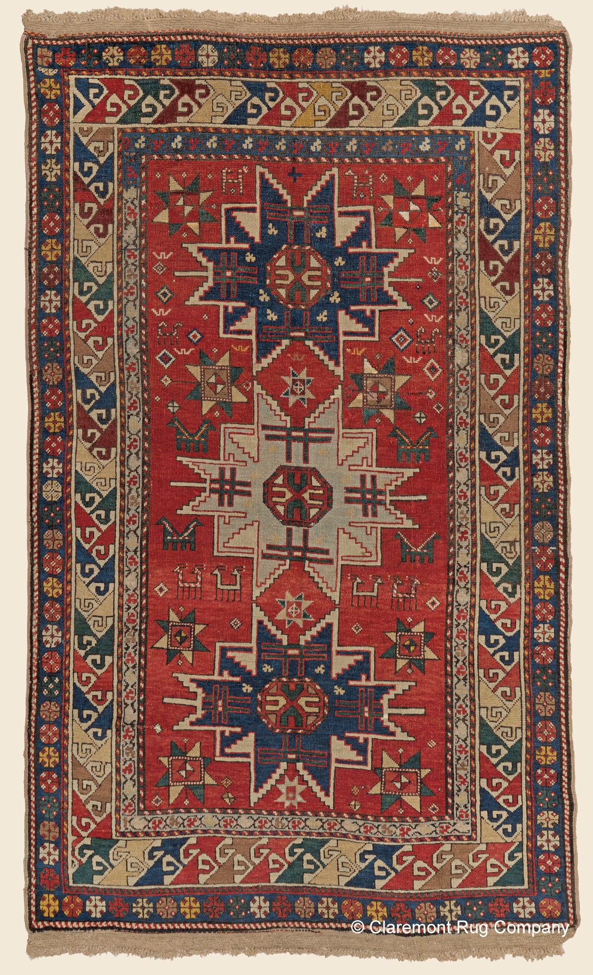 KAZAK LESGHI STAR Southern Central Caucasian Antique