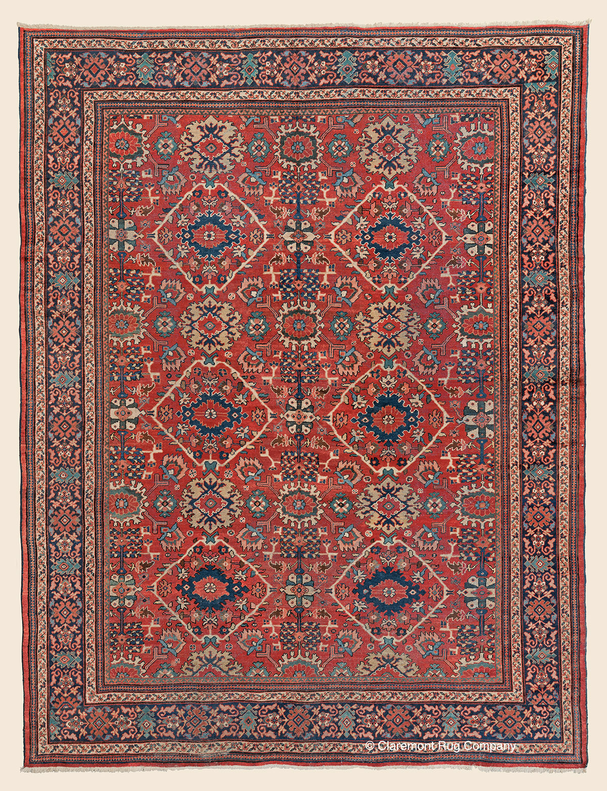 MAHAL, West Central Persian Antique Rug