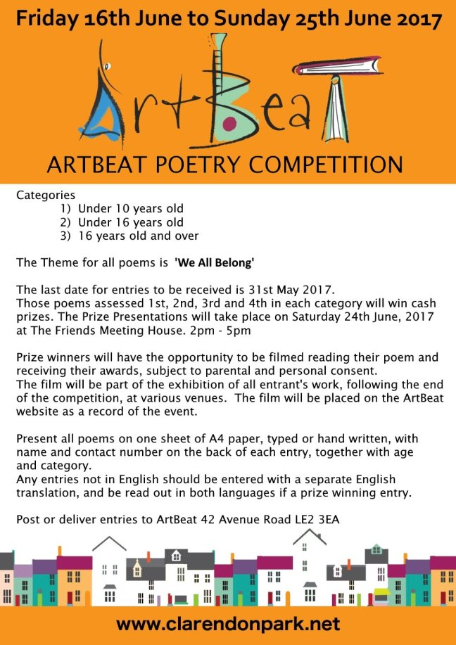 ArtBeat poetry competition information