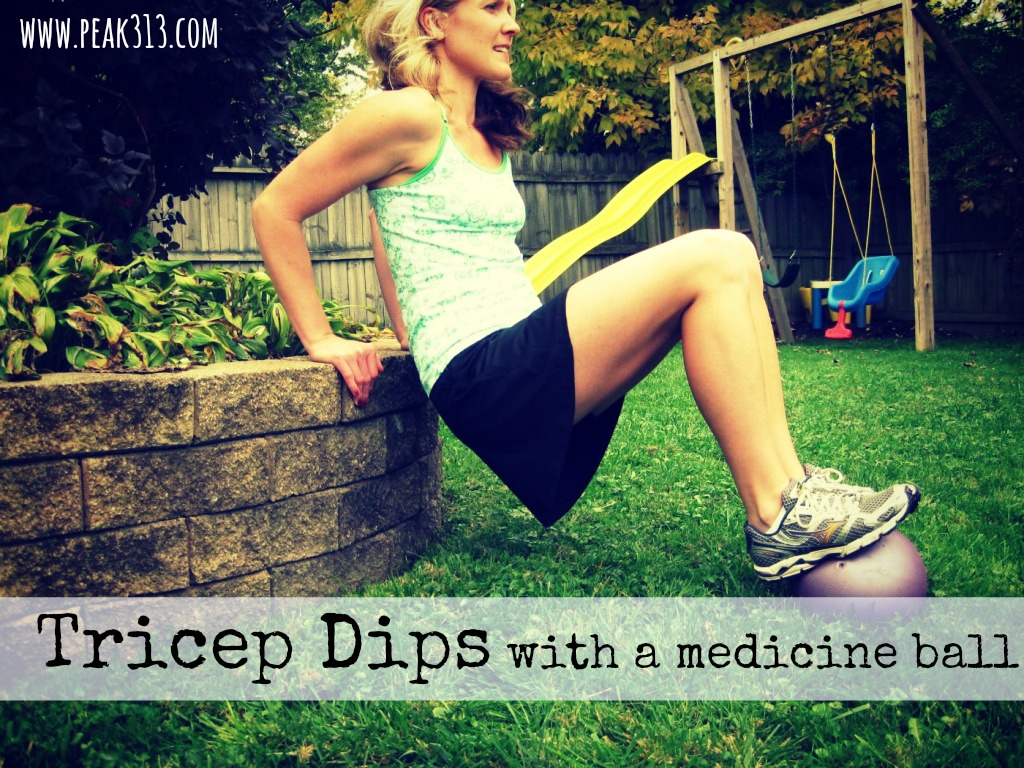 New Move Monday: Tricep dips with a medicine ball