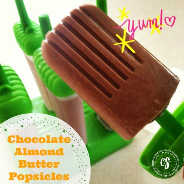 Chocolate Almond Butter Popsicles: www.claresmith.me