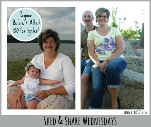 Shed & Share Wednesdays: Regina  (lost over 100 lbs!)  www.claresmith.me