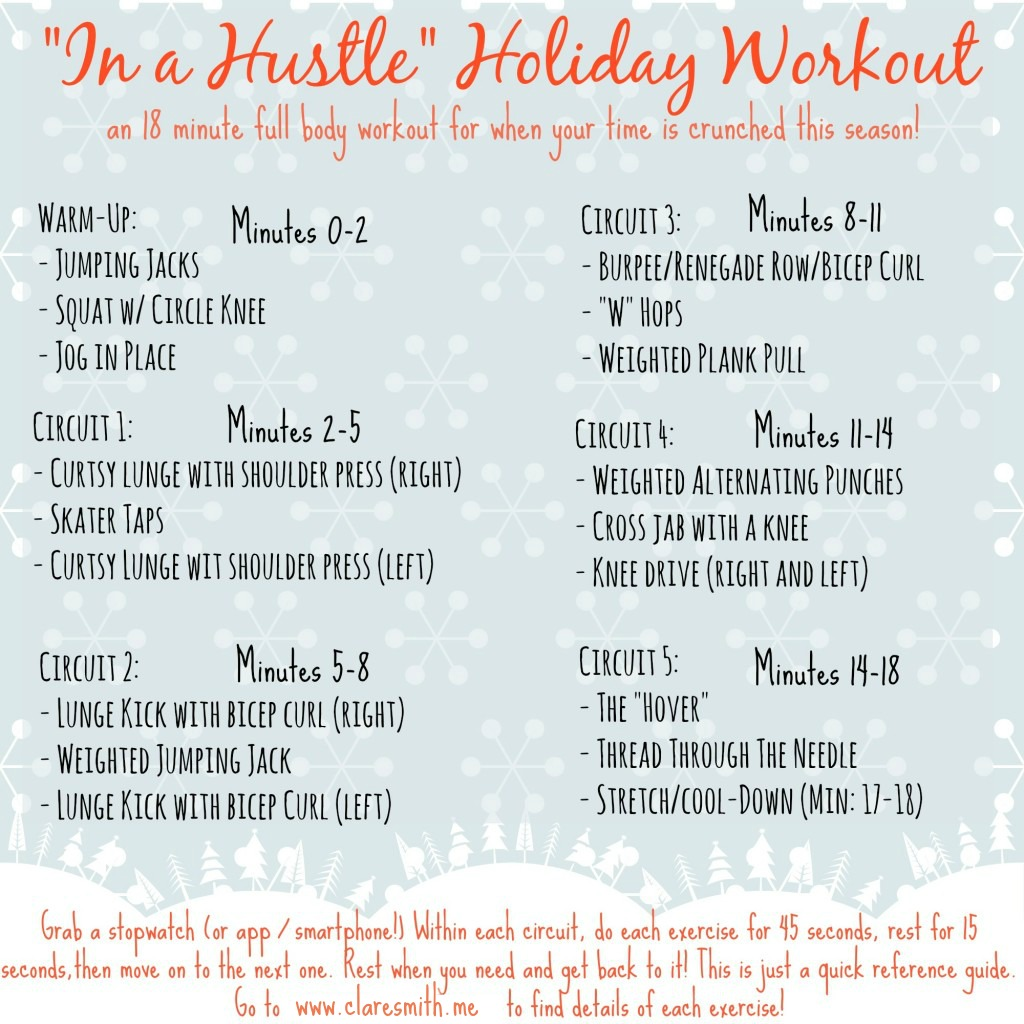 """In a Hustle"" Holiday Workout and Hoppin' Holiday Workout Playlist!"