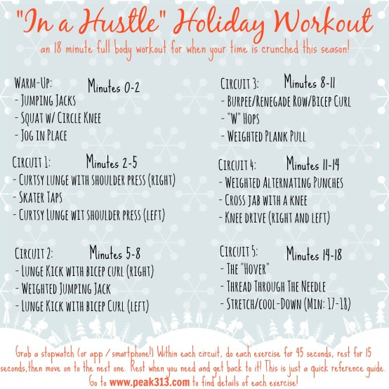 """""""In a Hustle"""" Holiday Workout: www.claresmith.me"""