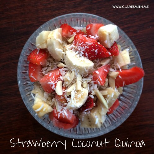 Strawberry Coconut Quinoa : www.claresmith.me