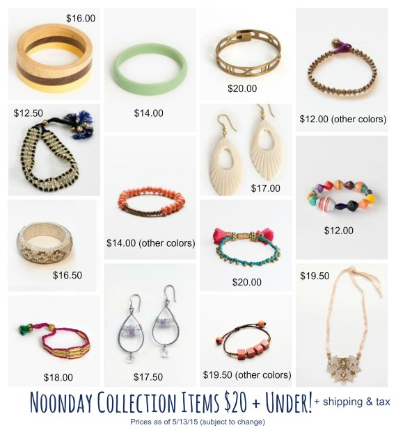 noonday$20 and under : www.claresmith.me