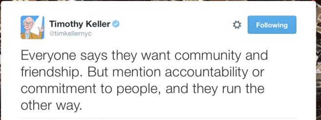 Tim Keller on community