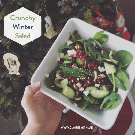 Crunchy Winter Salad: www.claresmith.me