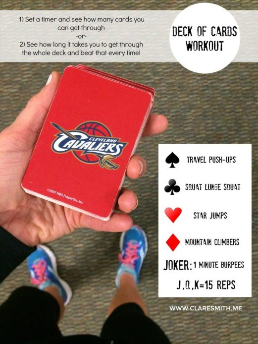 Deck of Cards Workout: www.claresmith.me