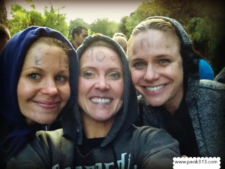 Candace, Clare, and Andrea at the Spartan Race : peak313.com