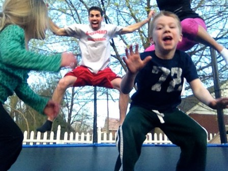 Family Jump on Trampoline : peak313.com