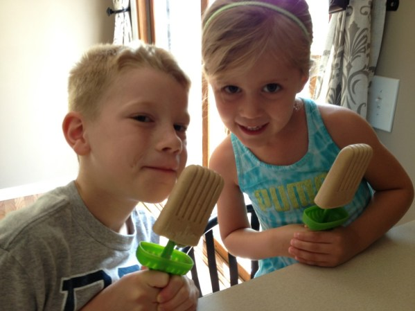 Kids enjoying Almond Butter Pops! : peak313.com