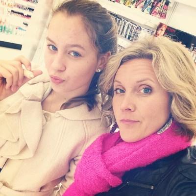 Natasha Bure and Clare Smith shopping