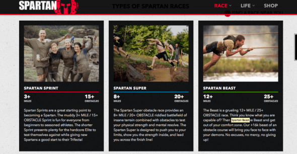 Spartan Race Descriptions
