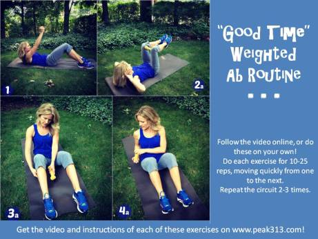 """Good Time"" Weighted Ab Routine (Free printable & Video!) 