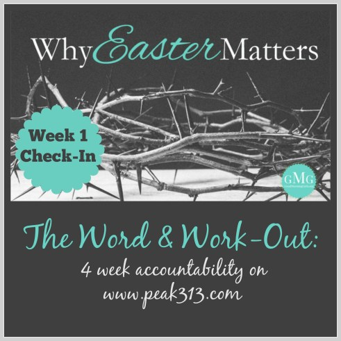 The Word and Work-Out: 4 week accountability on www.peak313.com Week 1 check-in