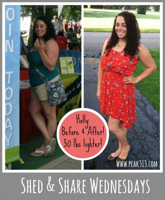 {Shed & Share Wednesdays} Meet Holly B! (she lost over 50 lbs!) | peak313.com