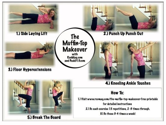 Muffin-Top Makeover (free printable) : peak313.com