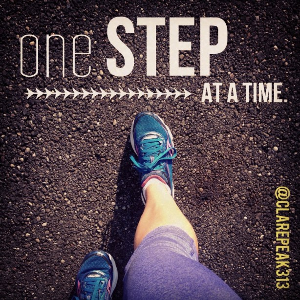FITspiration Friday : One Step at a time | peak313.com