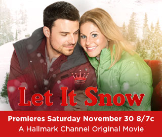"""Let It Snow"" featuring Candace Cameron Bure (Sat Nov 30 8/7c Hallmark Channel) : peak313.com"