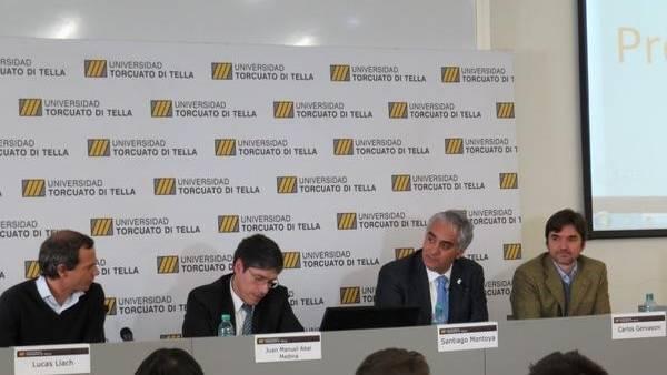 """Lucas Llach, Juan Manuel Abal Medina, Santiago Montoya y Carlos Gervasoni (docente UTDT), discuten cómo """"Dividir la Provincia"""""""