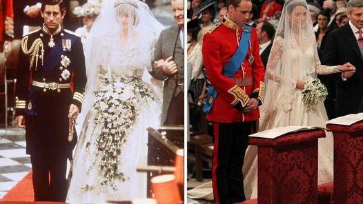 30 AÑOS. Pasaron desde que Lady Di y Carlos entraron en San Pablo. William y Kate eligieron Westminster. (AFP)