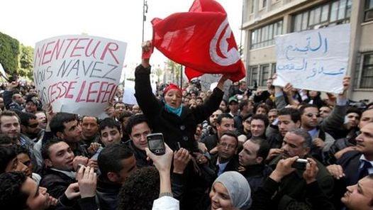 DISTURBIOS. Las protestas de los tunecinos se prolongaron durante un mes completo. (EFE)