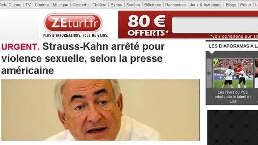ESCANDALO. Le Parisien, uno de los principales diarios franceses, refleja la detención de Strauss-Kahn.