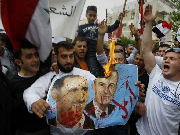 Fuerzas de seguridad sirias mataron ya, cerca de 40 personas al abrir fuego contra los manifestantes. (AP)