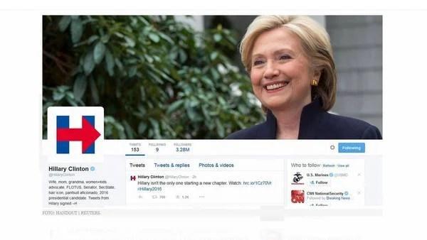 El nuevo logo de la capaña de Hillary Clinton.