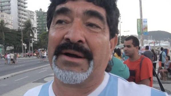 Escolastico Méndez, el clon de Diego Maradona, está en Río de Janeiro.