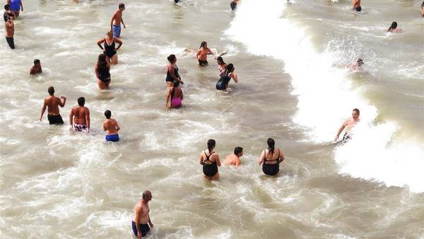 En Mar del Plata, ayer, el termómetro casi llega a 30 grados.