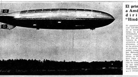 Zeppelin Hindenburg en las noticias (La Vanguardia)