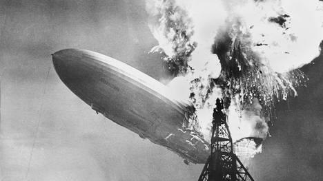 El accidente del zeppelin Hindenburg, el 6 de mayo de 1937 (dpa/au)