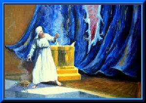 The curtain to the Holy of Holies being torn