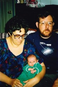 Elliot with his parents, 1989