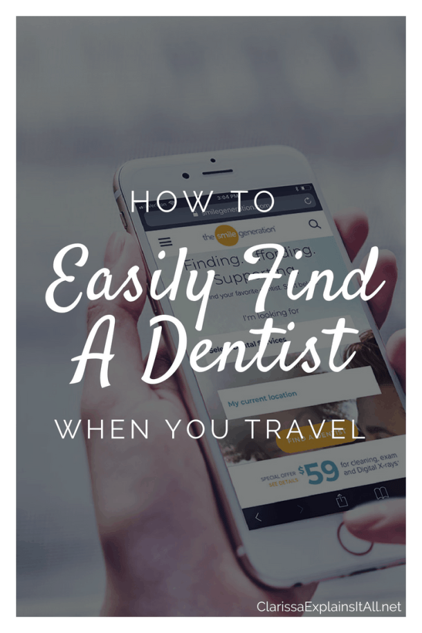 How To Easily Find A Dentist When You Travel