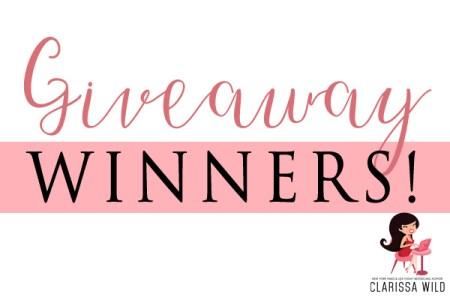 Giveaway Winners Clarissa Wild