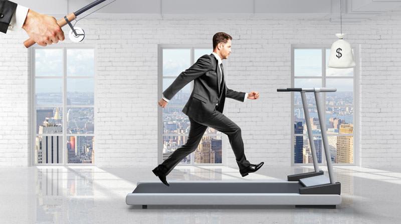 chasing money motivation concept